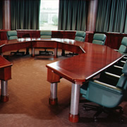 Woodpecker Enterprises: Octagonal Mahogany Boardroom Table